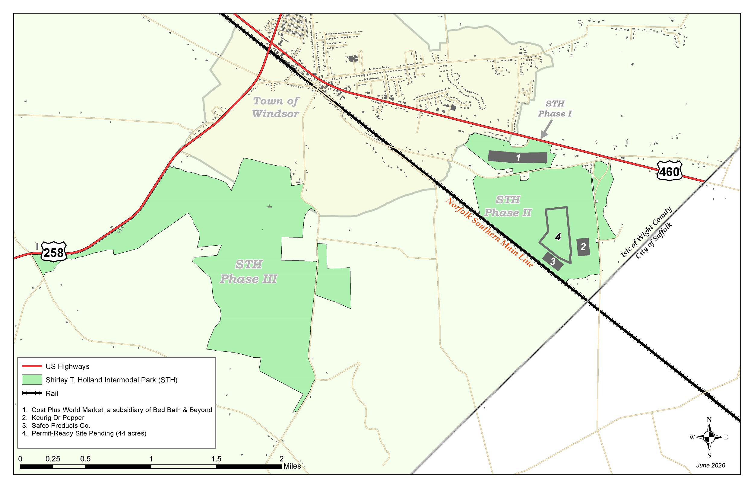 Picture of: Shirley T Holland Intermodal Park Map Isle Of Wight Department Of Economic Development